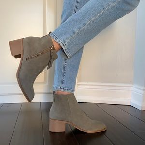 Brand new faux suede ankle boots